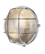 Admiral Solid Brass Round Outdoor Wall Light in a Nickel Finish IP64 - DAVID HUNT ADM5038